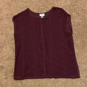 Old Navy plum lace tshirt